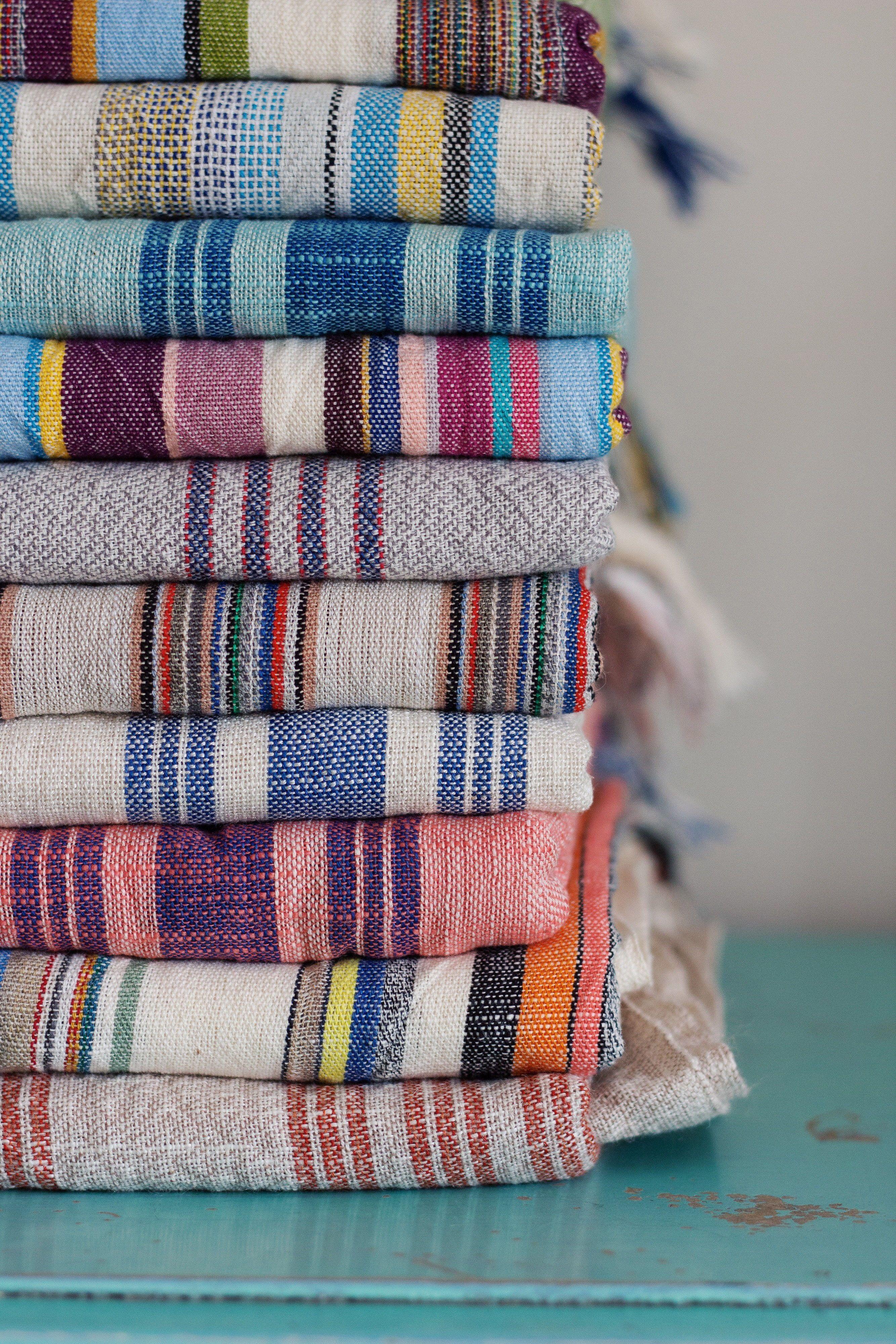 Striped Lightweight Linen Cotton Customize Turkish