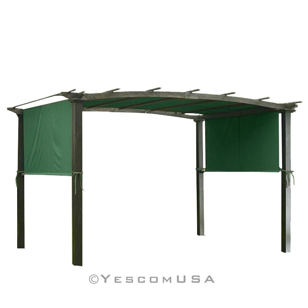 Yescom 17 X 6 5 Canopy Replacement Cover For Pergola Tan Green Pergola Canopy