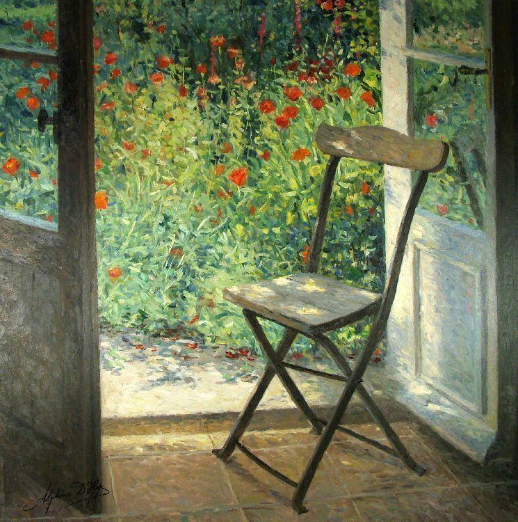 Alphonse d\u0027Heyes Flowers Pinterest Portes fenêtres, Fenêtre - peinture porte et fenetre