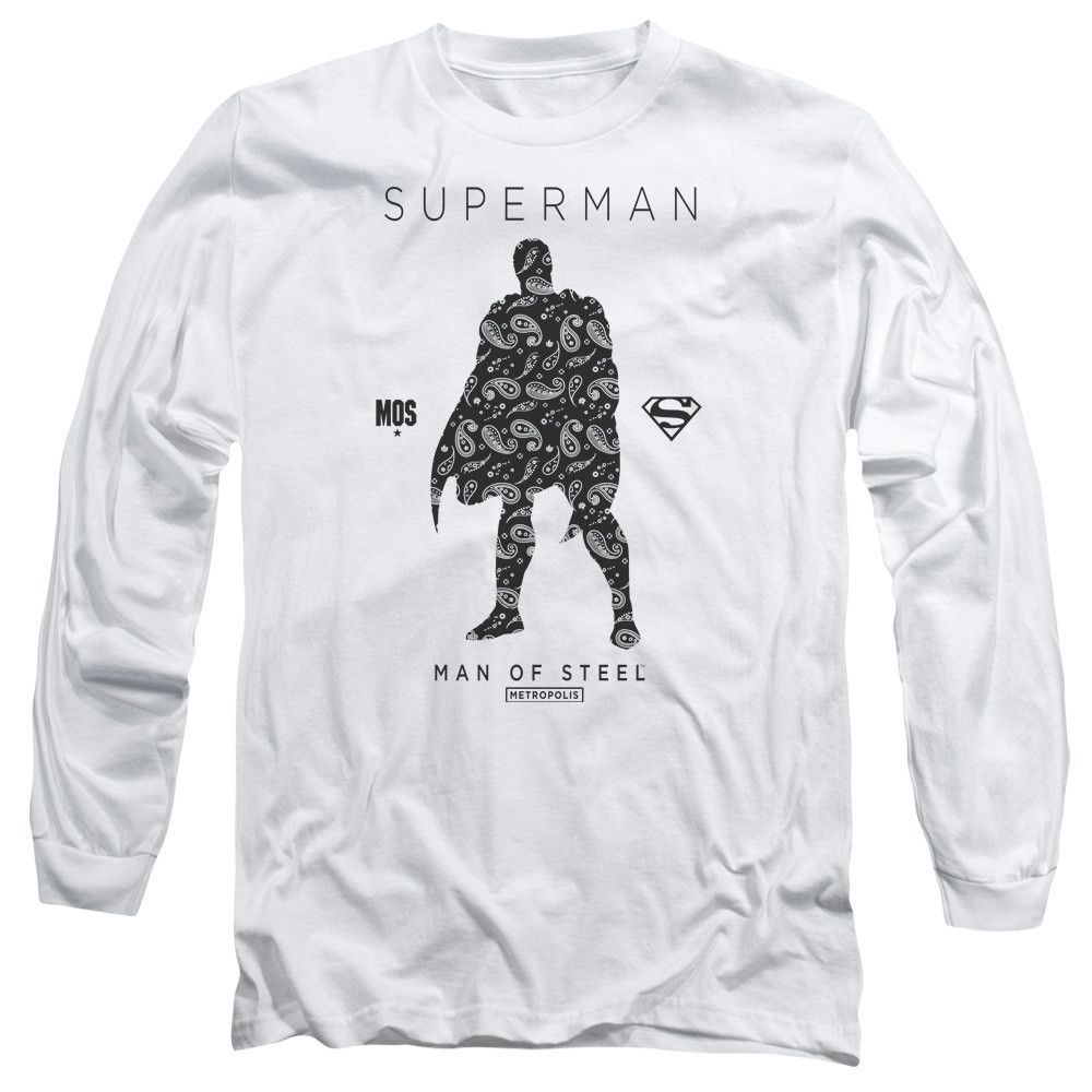 Superman paisley sihouette long sleeve tshirt products