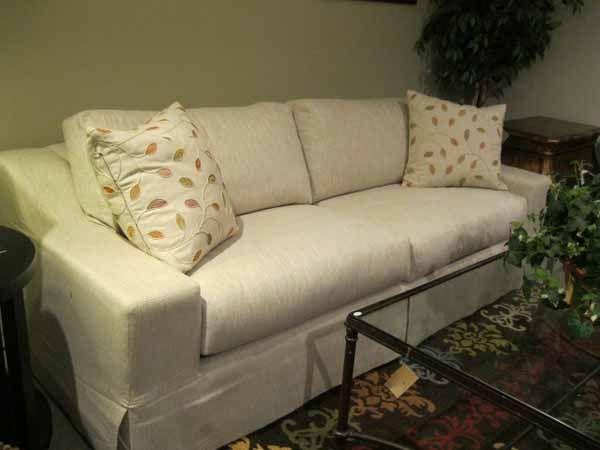 Beau JC129 Ingram Sofa By Burton James  Molteni Ecru Fabric @ Heritage Furniture  Outlet