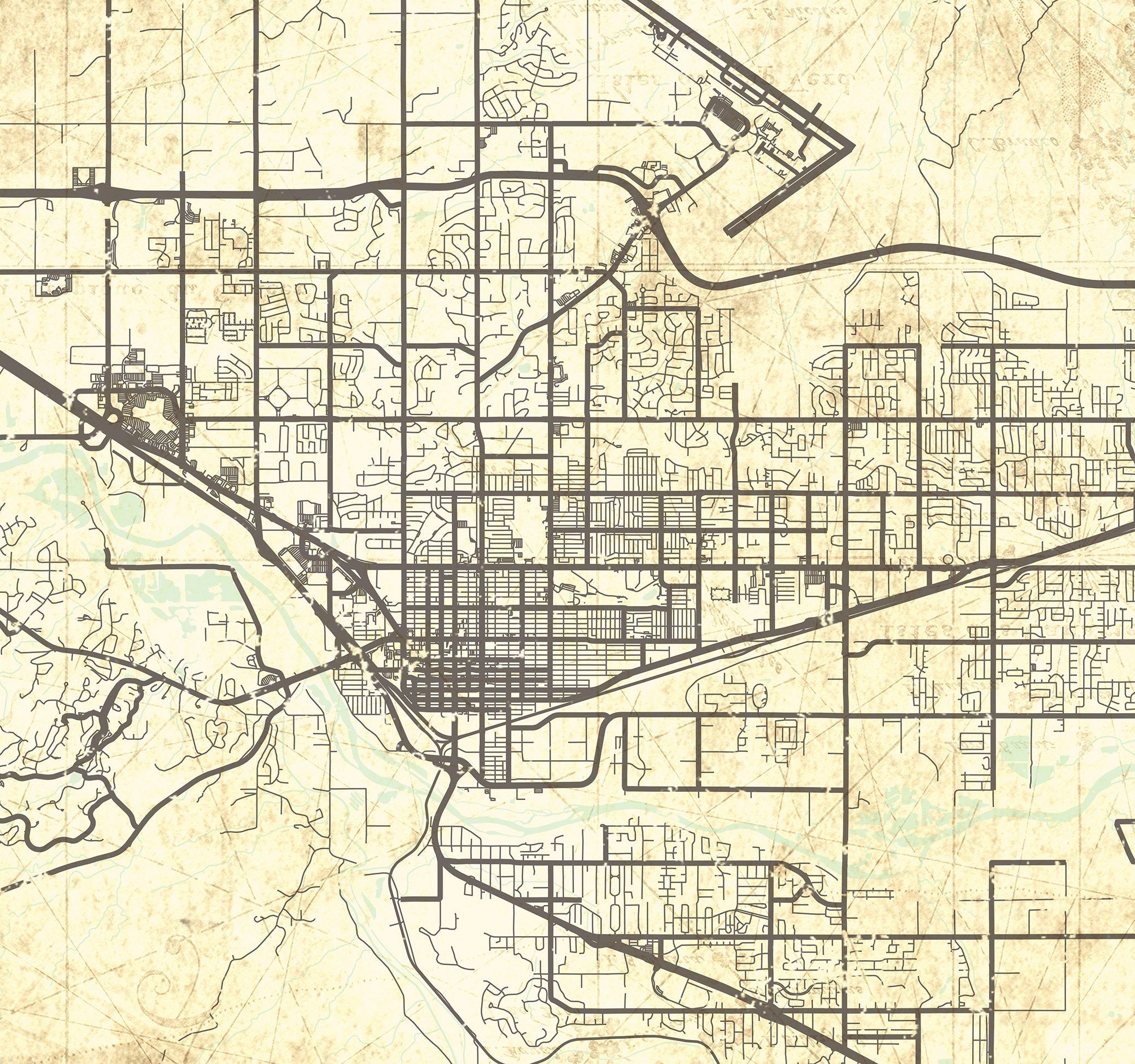 GRAND JUNCTION CO Canvas Print Colorado Vintage map Town ...