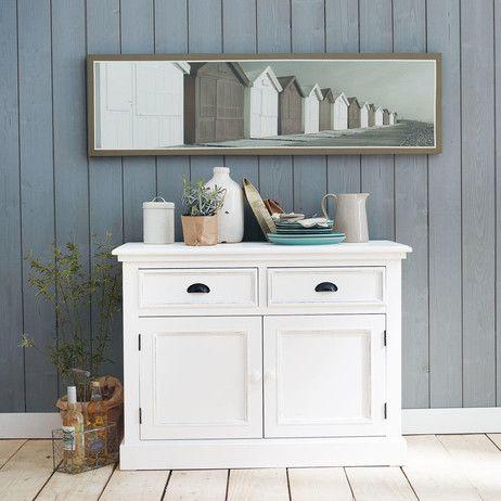 buffet en pin blanc l 106 cm house pinterest house. Black Bedroom Furniture Sets. Home Design Ideas