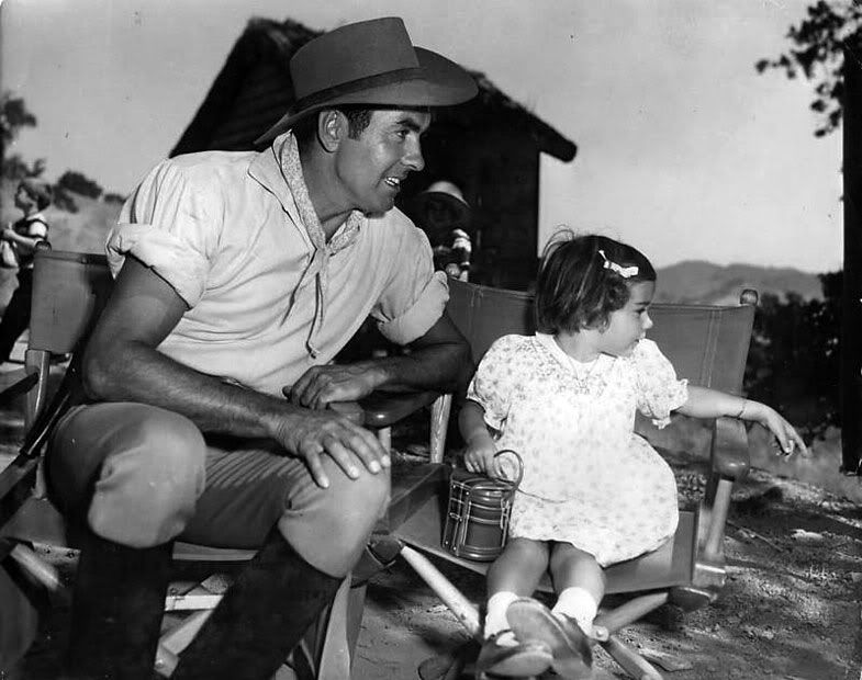 Romina Power Visits Dad Tyrone On The Set Of Untamed 1955 Susie