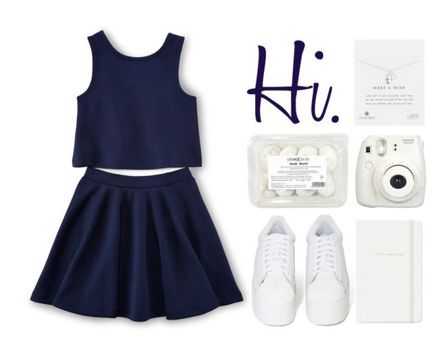 """""""Hi."""" by ines-nokinhas ❤ liked on Polyvore featuring Jeffrey Campbell, Kate Spade, Fujifilm and Dogeared"""