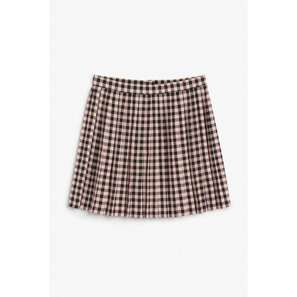 31d9eb68a7 Monki Pleated mini (£5) ❤ liked on Polyvore featuring skirts, mini skirts