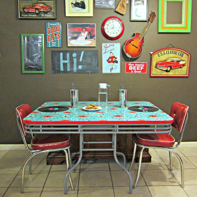 Mesa De Jantar Reformada Com Tecido Sala De Jantar Vermelha