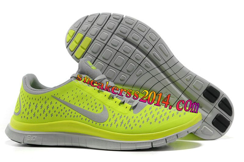 Nike Free 3.0 V4 Mens Store Running Shoes Dark Grey Electric Gre