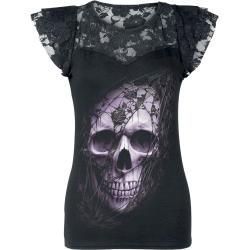 Photo of Spiral Lace Skull Damen-T-Shirt – schwarz Spiral Direct
