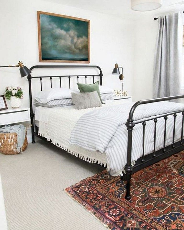 25+ Cool Black Wrought Iron Bed Frame Designs Bedroom in ...