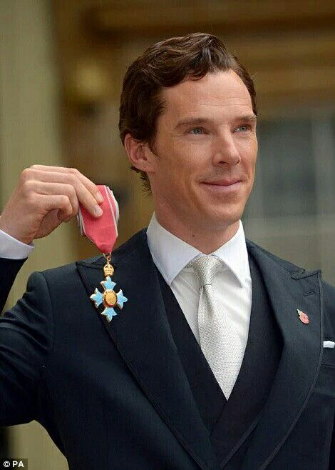 Benedict at Buckingham Palace receiving his CBE - 10th November 2015