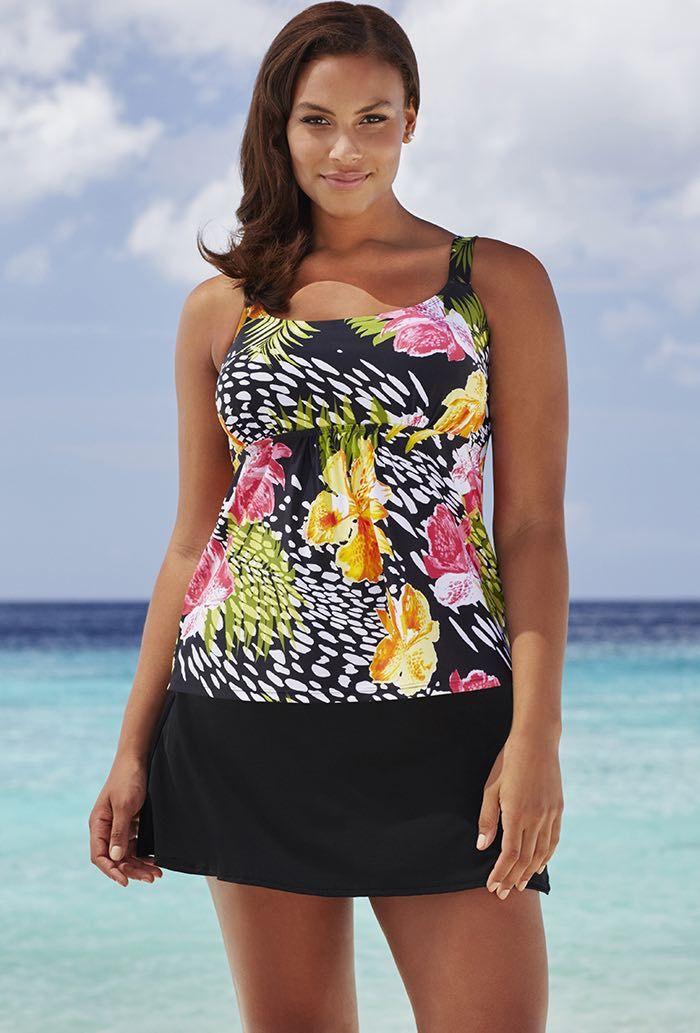 496c7e9524 Beach Belle Texas Rose Flared Skirtini