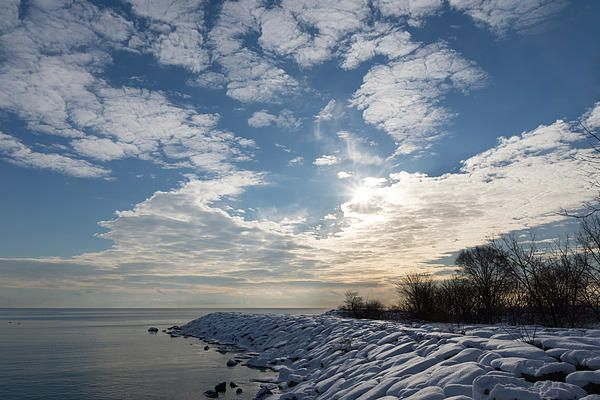 Brilliant Sunshine After The Snowstorm - A Winter Beach On Lake Ontario by Georgia Mizuleva - Brilliant Sunshine After The Snowstorm - A Winter Beach On Lake Ontario Photograph - Brilliant Sunshine After The Snowstorm - A Winter Beach On Lake Ontario Fine Art Prints and Posters for Sale