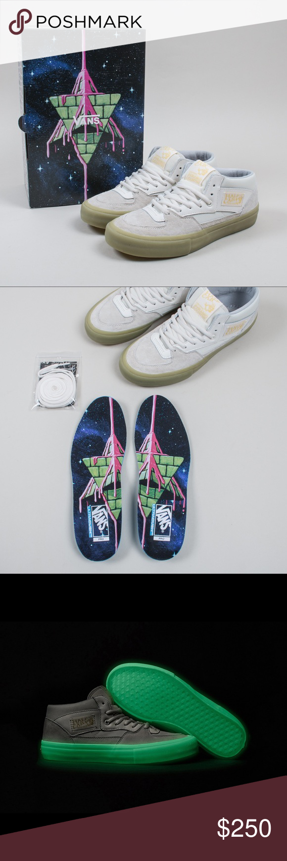 4c621e5f8ad3d4 1 250 NEW Vans x Pyramid Country Glow in the Dark New Rare 1 of 250 VANS X  Pyramid Country Half Cab Pro shoes Size 8 Caballero IN HAND!!!