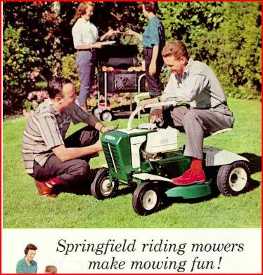 1960 S Riding Mower Ad Mower Riding Lawn Mowers Riding Mower