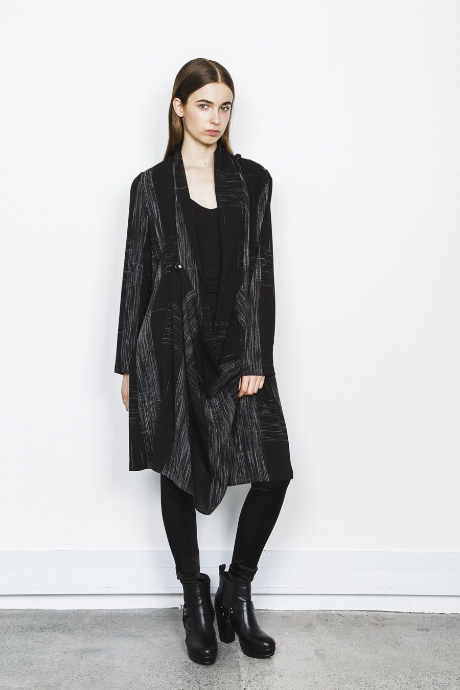 Layering coat with so many draping options