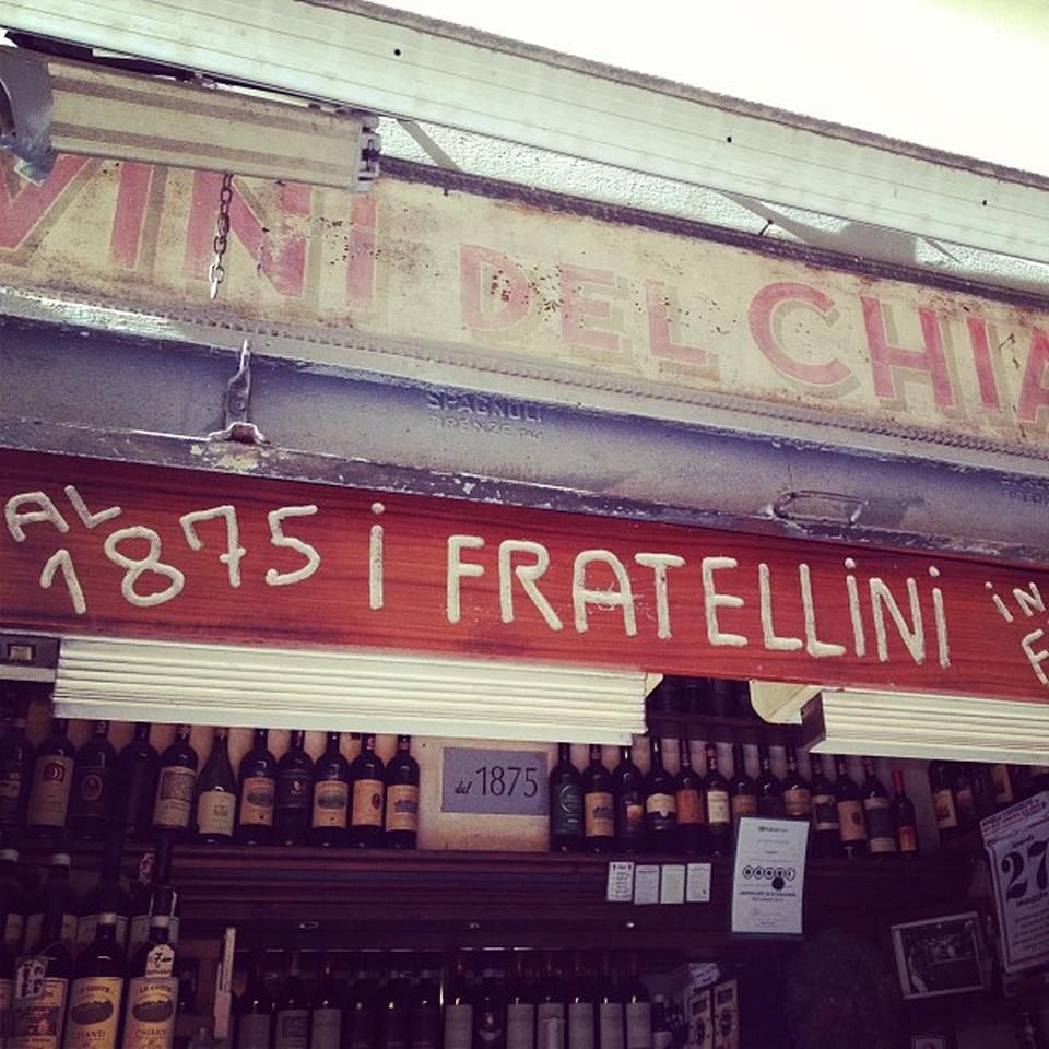 tuscan sandwich and wine shop. (YOU MUST TRY IT!) web site: http://www.iduefratellini.it/