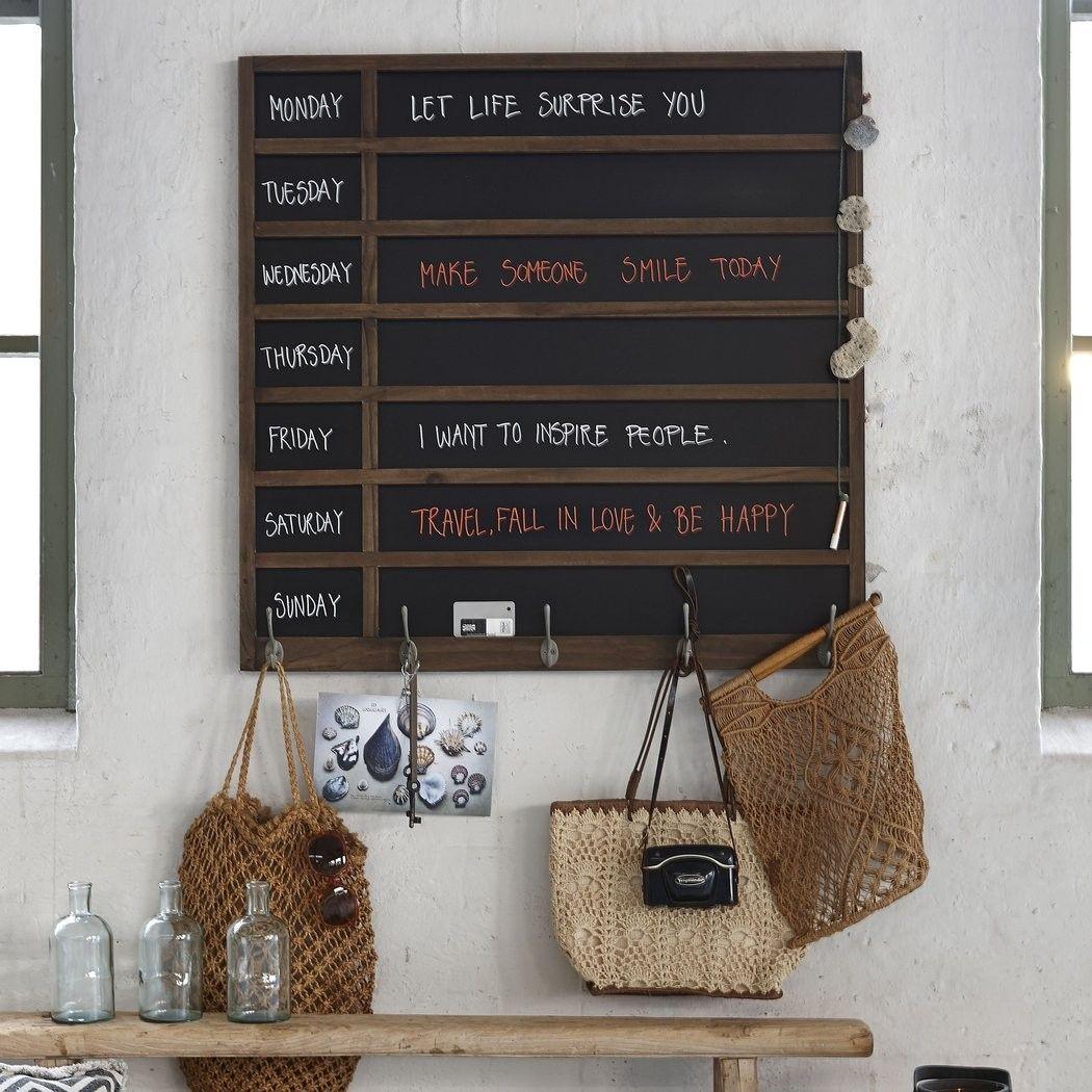 Weekdays Blackboard Wooden Blackboard Chalk Mad About The House Blackboards Kitchen Blackboard