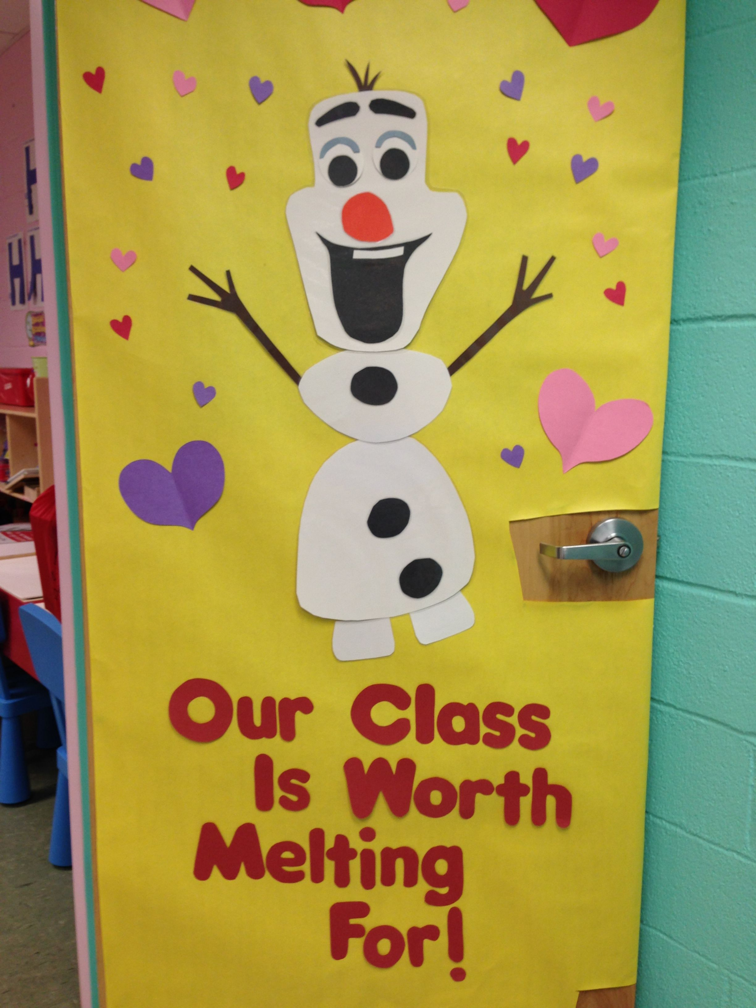 Ms. Maryann\'s cute Olaf door! | Love is an Open Door | Pinterest ...