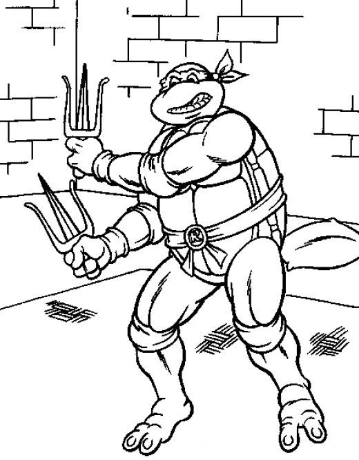 Teenage Mutant Ninja Turtles Printable Coloring Pages | Pinterest