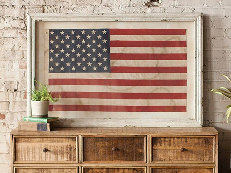 framed+american+flag+-+Old+Glory+artfully+preserved+in+a+rustic+ ...