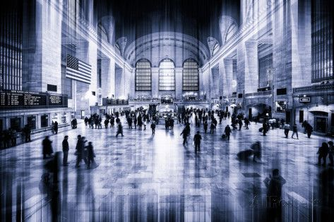Urban Stretch Series - Grand Central Terminal - Manhattan - New York Photographic Print by Philippe Hugonnard at AllPosters.com