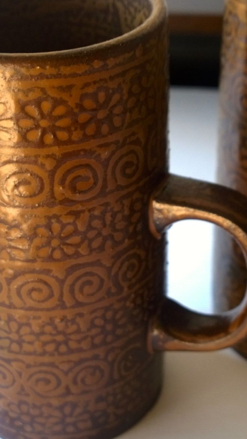 Vintage Stoneware Coffee Cups : 1970s Espresso Mugs by TheBusyTipsyGipsy on Etsy
