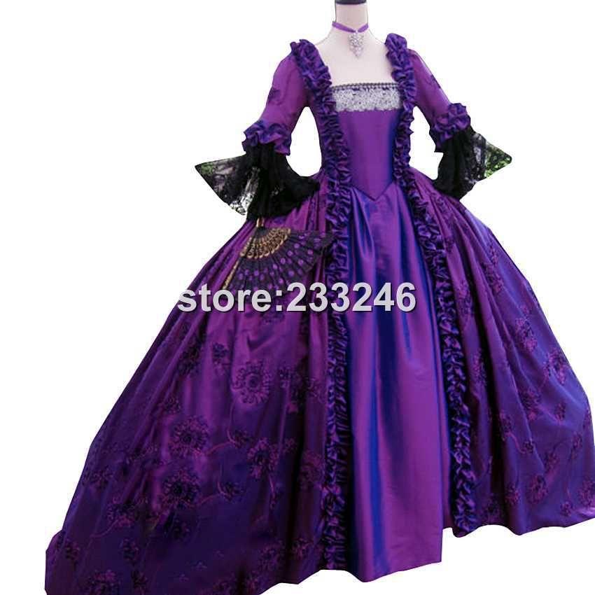 Masquerade Ball Gown- Handmade 1700s Dress, Vintage Costume, Halloween Costume