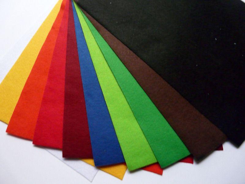Filz & Filzplatten - 10 St Filzplatten 1mm 20x30 cm Bastelfilz - ein Designerstück von Frau_Zwerg bei DaWanda