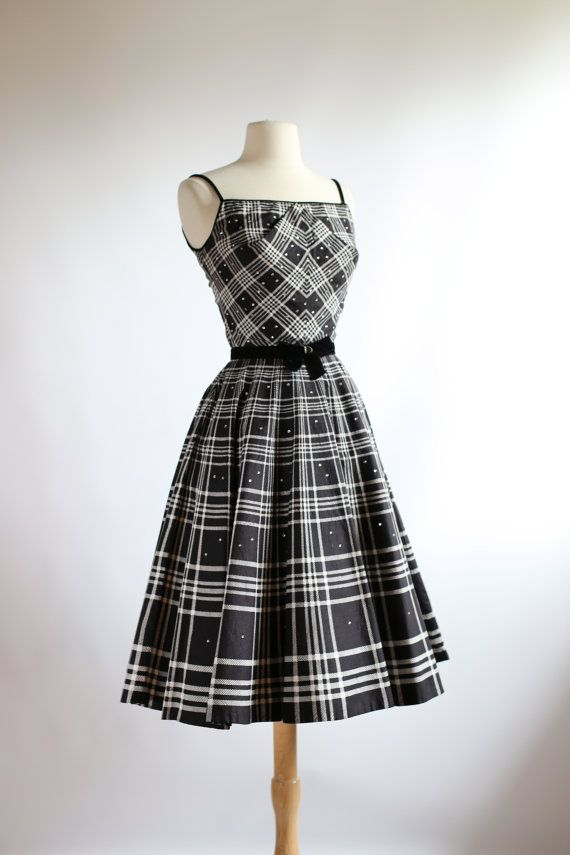 1950's Rhinestone Studded Dress