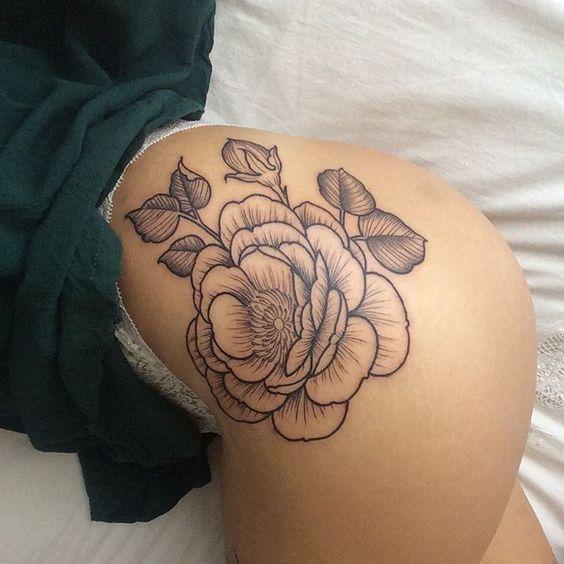 Ultra beautiful butt tattoos for women pop tattoo for Tattoos on buttocks