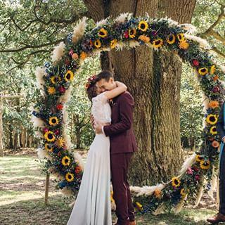 Alternative Edgy Wedding Ideas with a Naked Tipi Backdrop