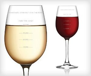 Dealing with #wine quantity is easy with measuring wine #glass. Now put right amount while #cooking or drinking !
