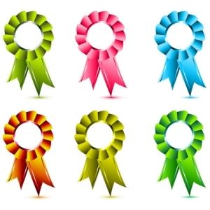 a ribbon is an award made from ribbon and presented to mark an