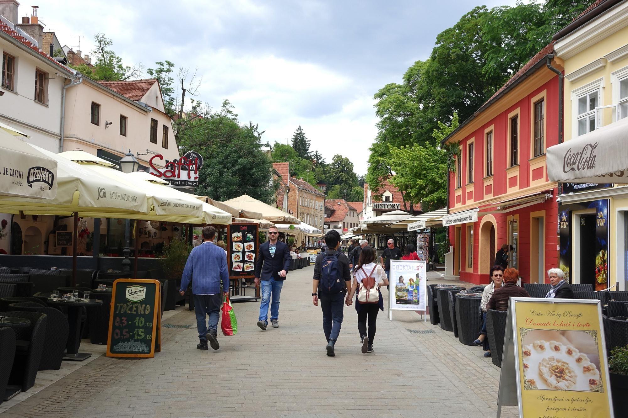 Tkalciceva Popular Pedestrian Street With Bars And Cafes Zagreb Croatia Zagreb Croatia Croatia Travel