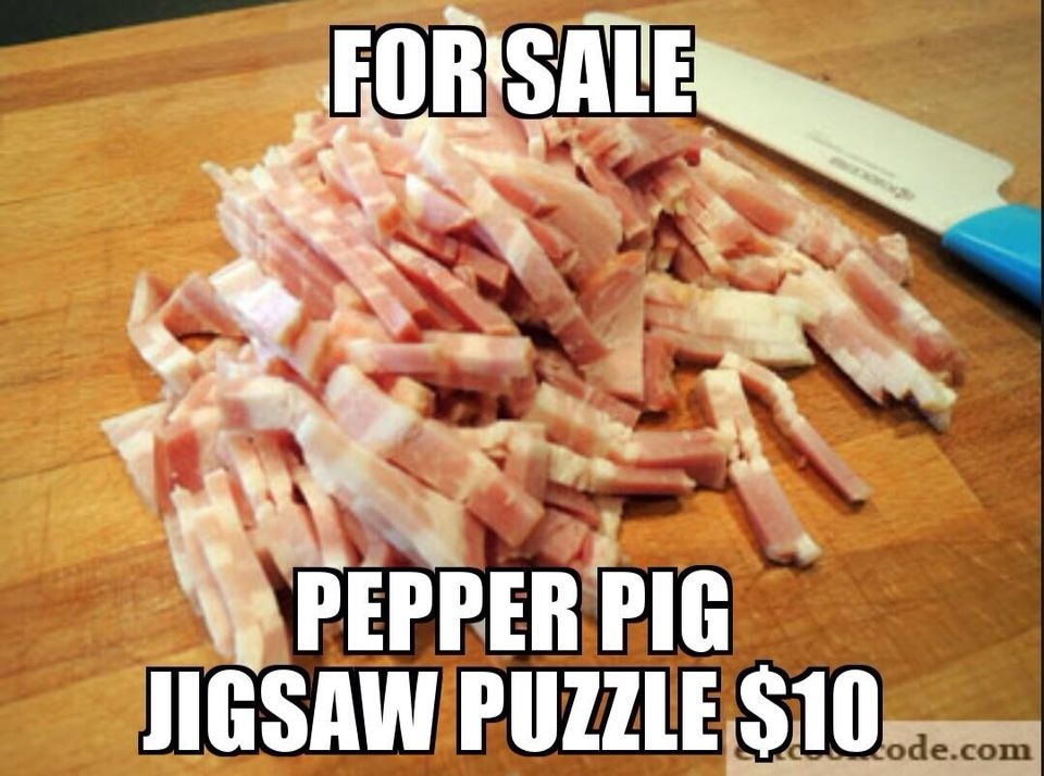 Peppa Pig Jigsaw Puzzle Bacon