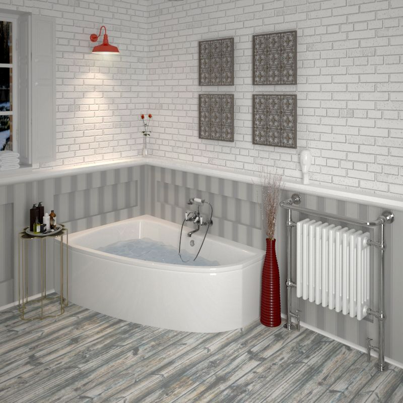 Cleo Left Hand Offset Corner Space Saver Bath Panel Diamond Diamond Bathrooms Small Corner Bath Corner Bath Corner Bath Shower