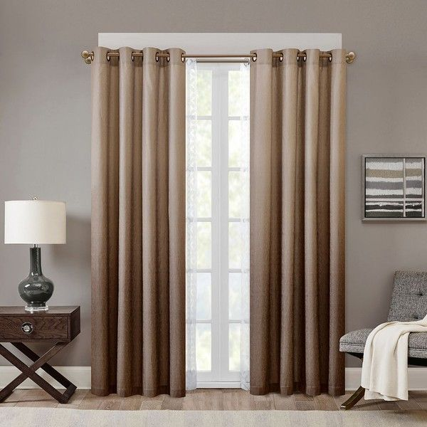 Madison Park Ombre Curtain 50 Liked On Polyvore Featuring Home Decor Window Treatments Curtains Drapery Dip Dye