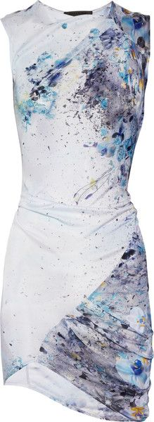 AMINAKA WILMONT Printed Satin-jersey Dress - Lyst LOVE