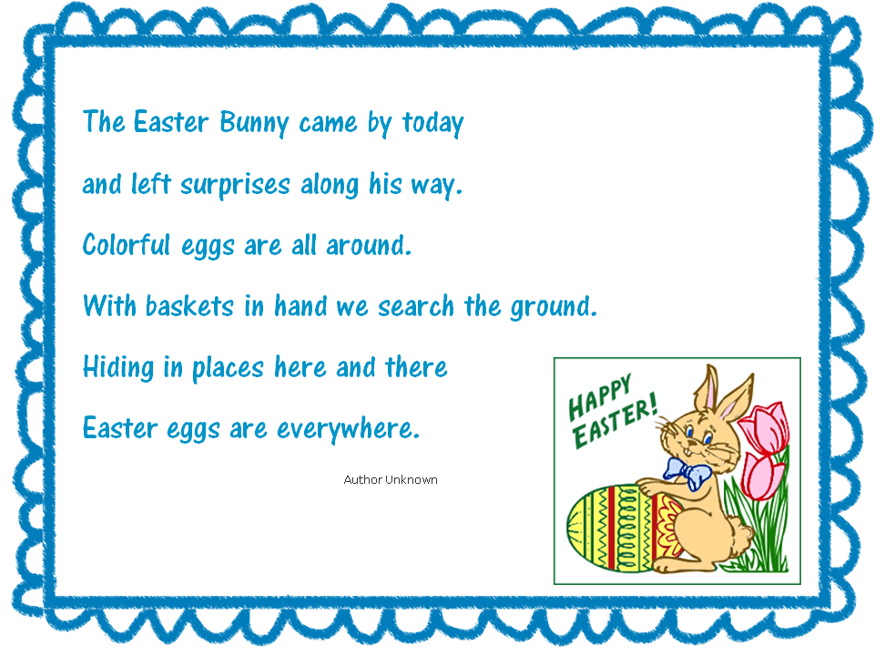 Happy easter easter easter poem negle Images