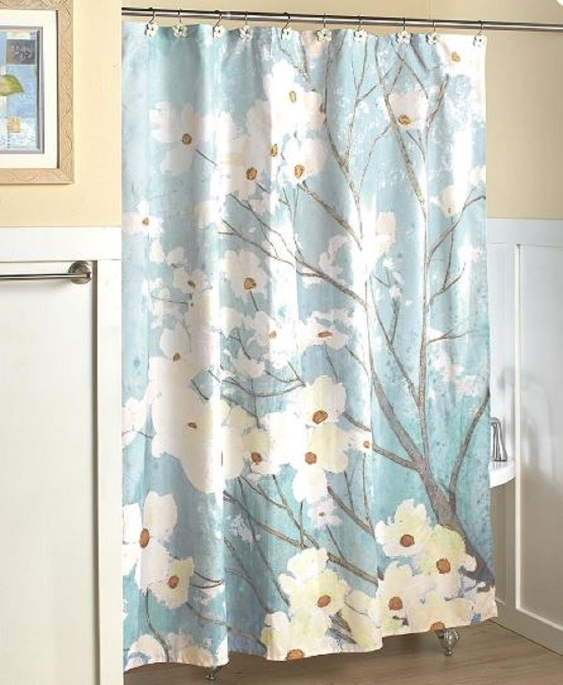 Dogwood Blossoms Shower Curtain Fl Flowering Bath Bathroom Home Decor Unbranded Country