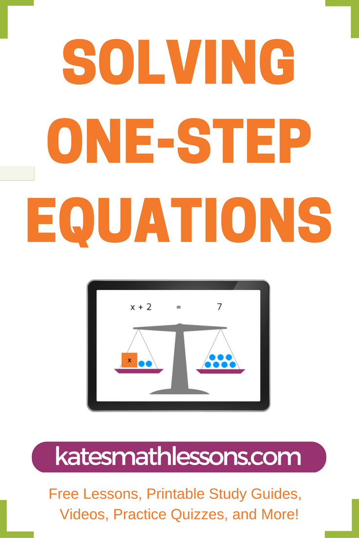 solving one step equations equation study guides and solving need help solving one step equations this math lesson shows how to solve