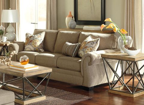 Beige is anything but boring thanks to this sofa\u0027s cheerful citrus