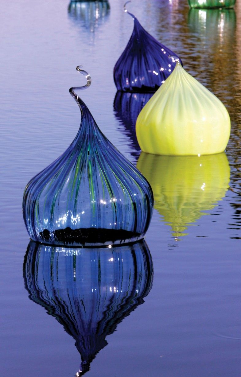 Chihuly glassid love to have these floating in a near