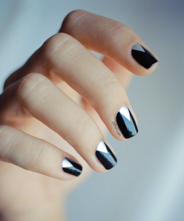 Diseño de Uñas Fáciles - Estilo Minimalista - Manicure | Decoración ...