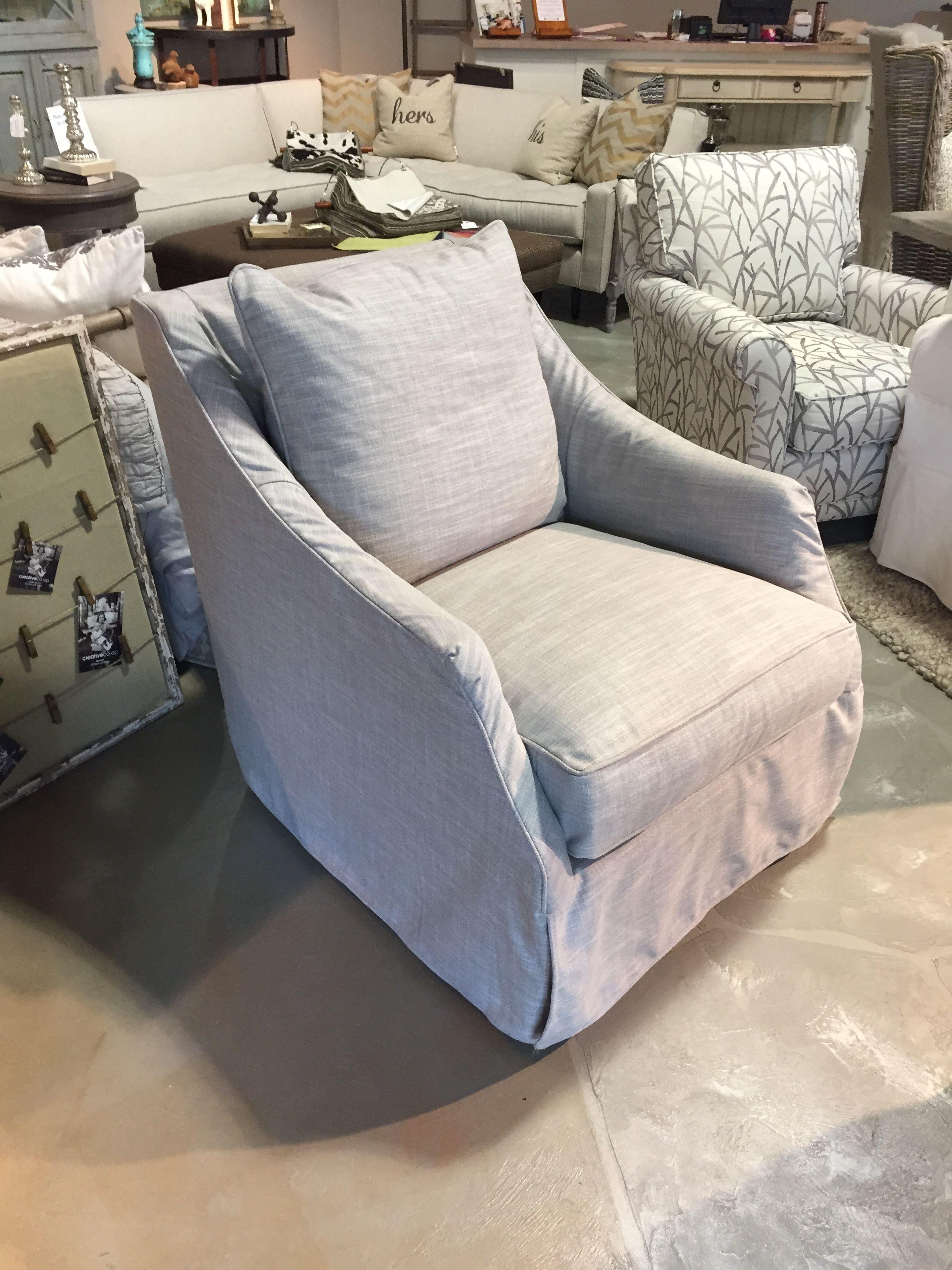 Kate Slipcover swivel glider Swivel glider chair, Home
