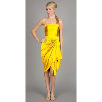 Yellow Cocktail Dresses by Nicole Miller -- anyone know WHERE I ...