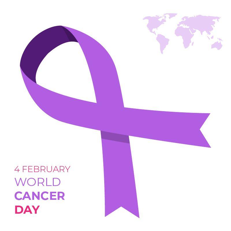 2e92ccf3dd9 Flat World Cancer Day Card Design Free Vector , #4February ...