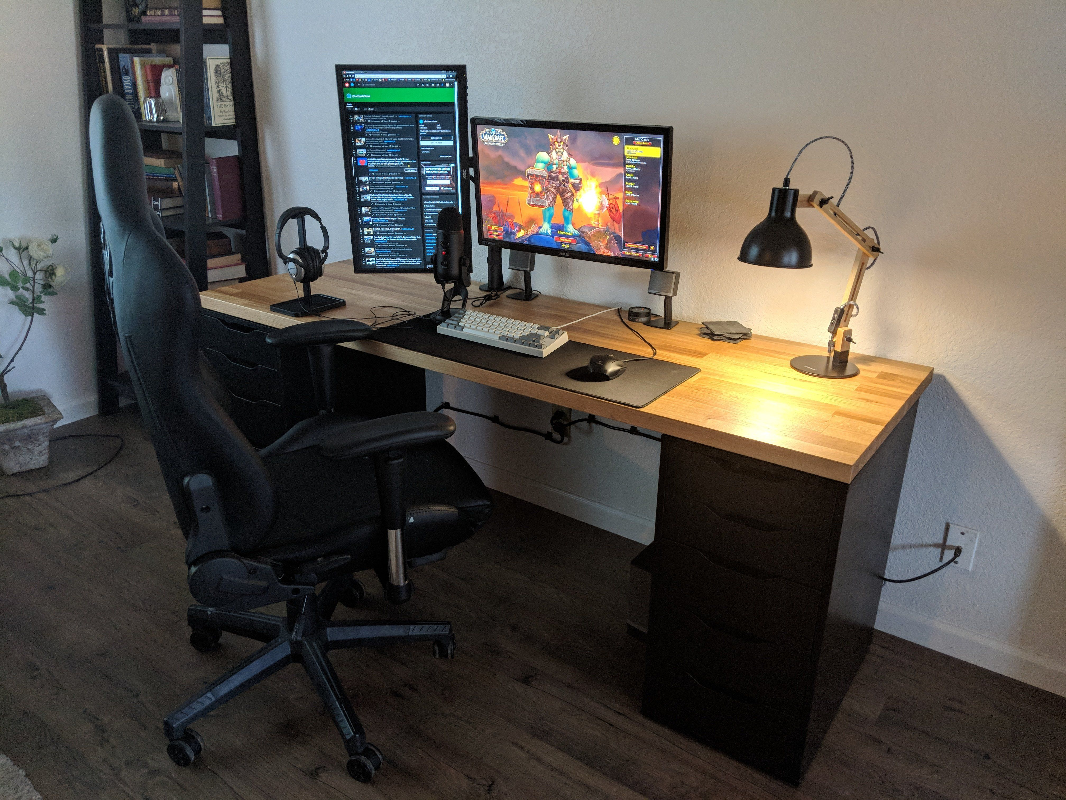 I See All Your Karlby And Alex Combos And Raise You A Karbly And Alex Combo Battlestations Gaming Computer Desk Corner Gaming Desk Computer Desk