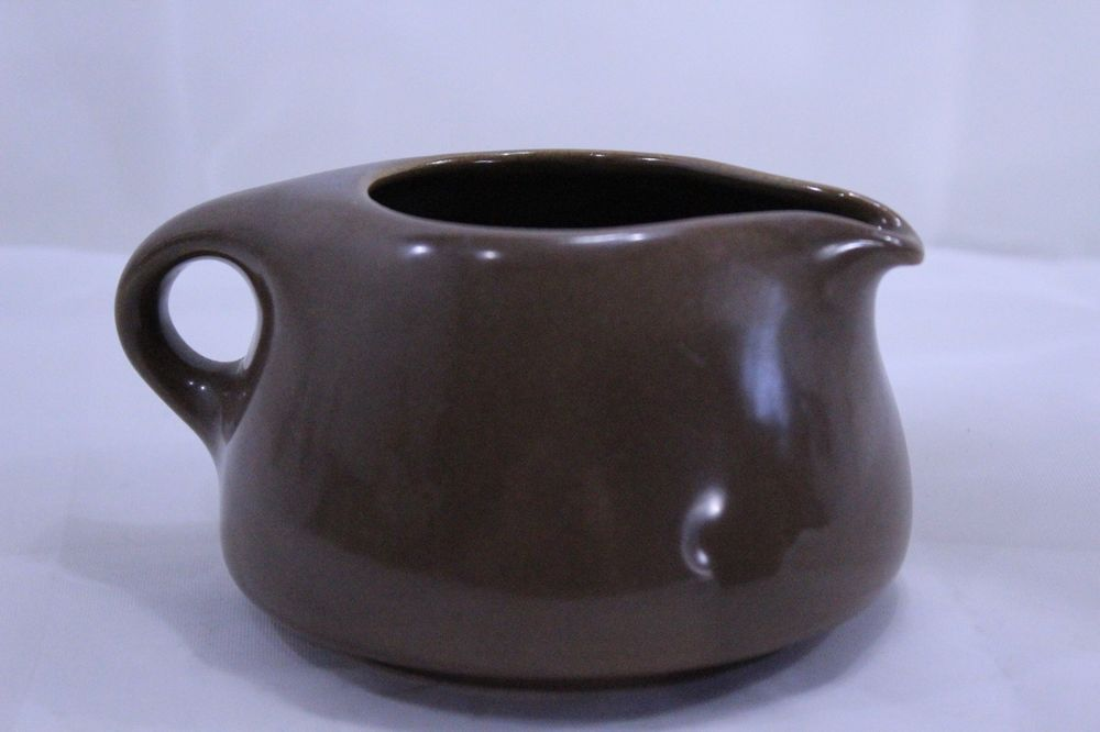 RUSSEL WRIGHT Iroquois Chocolate Stacking Creamer and Sugar Bowl Set LR…
